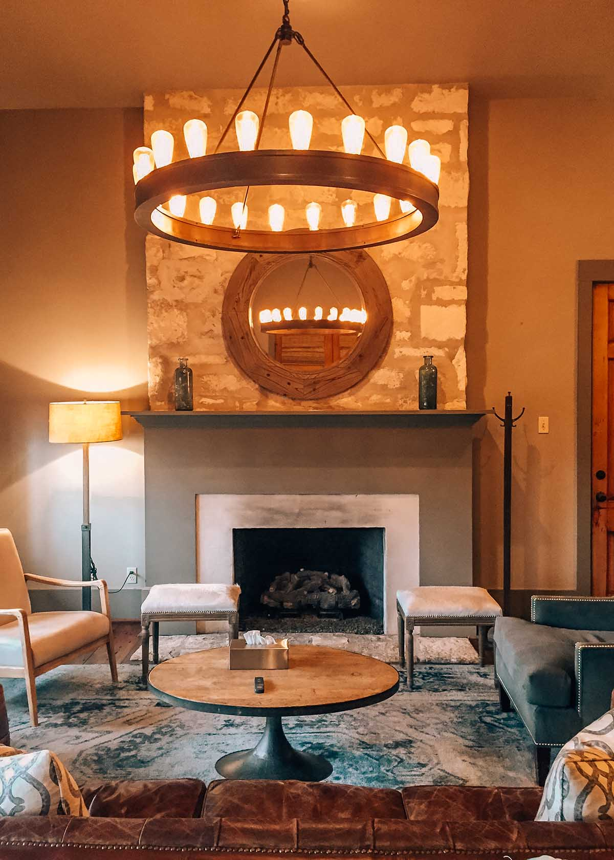 Living room at Sage Hill Inn & Spa in Texas Hill Country