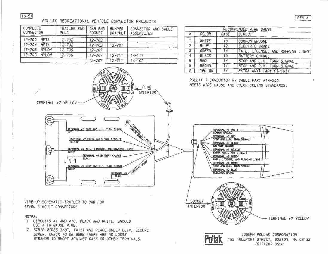 pollack 7 pin trailer wiring diagram pin free printable wiring diagrams