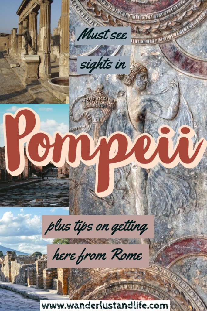If you are wondering what the distance from Rome to Pompeii is, and whether you can do a Rome to Pompeii day trip, this article is for you. We visited the ancient city through an organised tour. We got to sit back and relax and see the must see sights Pompeii had to offer. #italy #wanderlustandlife #pompeii #rome