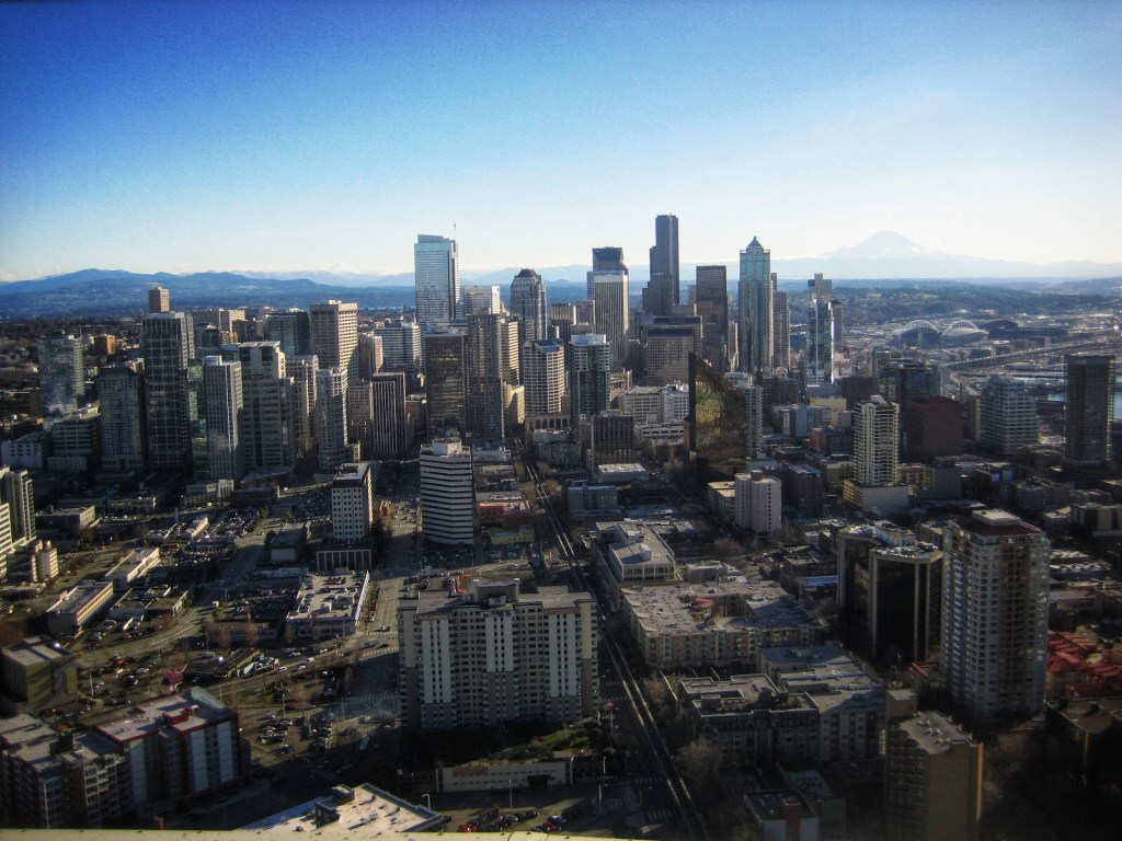 The view from the Space needle