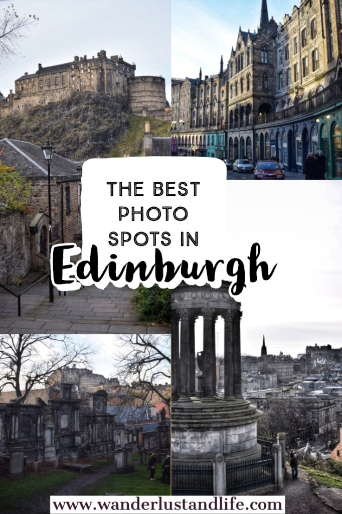 Edinburgh has to be one of the most photogenic places ever. From its ancient buildings and monuments, to its cobbled stoned streets. Everywhere you go you just want to take a picture. This is our guide to some of the best spots to take photographs in Edinburgh as well as the most instagrammable places in Edinburgh. #wanderlustandlife #edinburgh #scotland