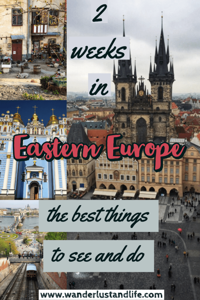 Eastern Europe itinerary 2 weeks - This comprehensive guide will help you plan your own 2 week Eastern Europe itinerary. From where to visit, what to eat, and where to stay we cover everything you need to know about spending 14 days in Eastern Europe. This guide covers 4 countries and 5 cities in detail. #easterneurope #europe #ukraine #budapest #prague #vienna #wanderlustandlife