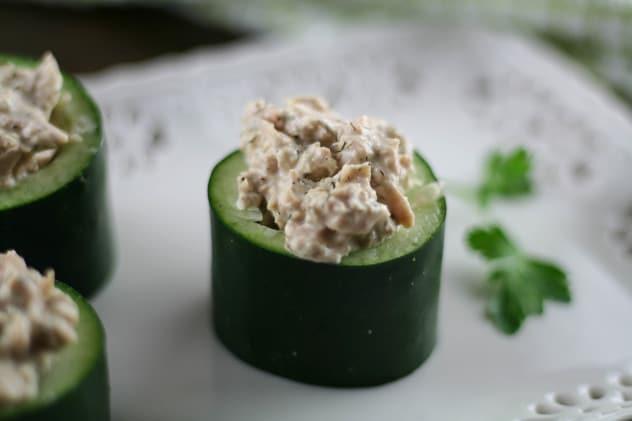 Cucumber Tuna Cups 4