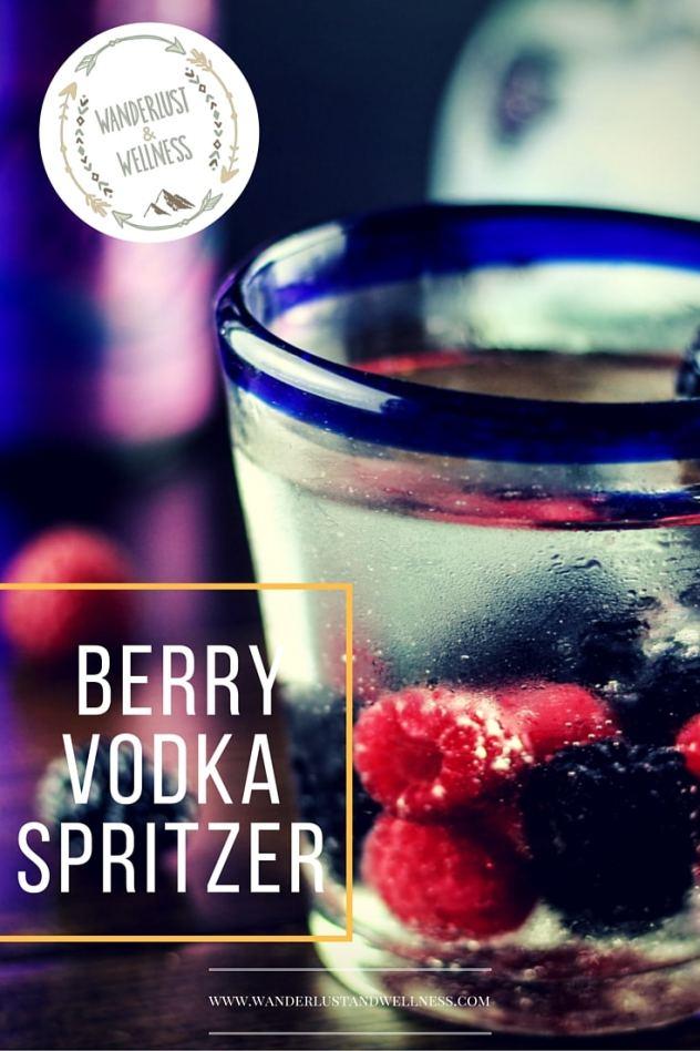 LaCroix berry vodka spritzer