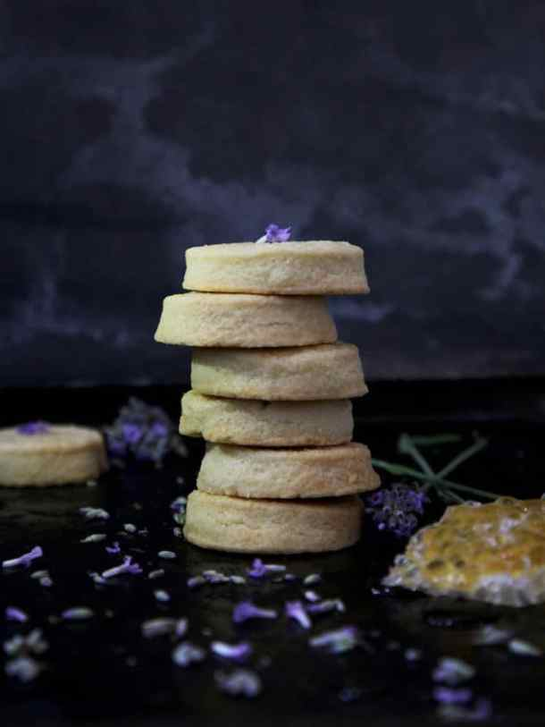 lavender honey shortbread