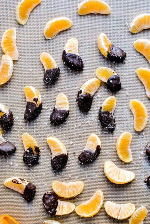 dark chocolate clementines