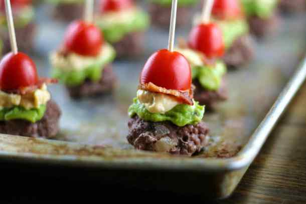 chipotle mini burgers