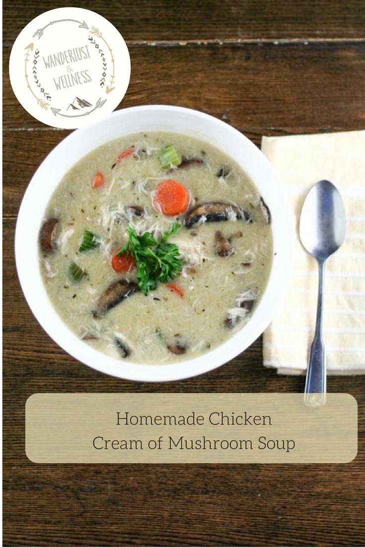 Homemade cream of mushroom chicken recipe
