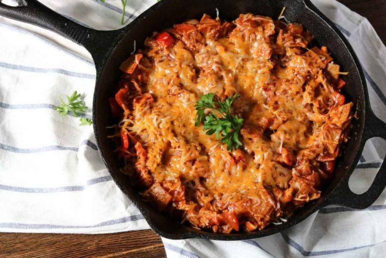 gluten-free-chicken-enchilada-skillet