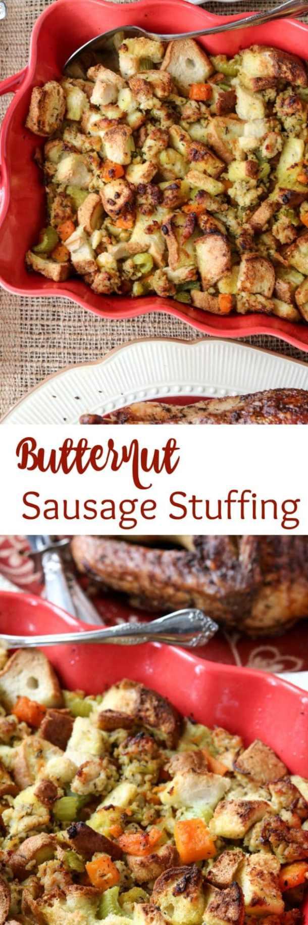 Butternut Sausage Stuffing