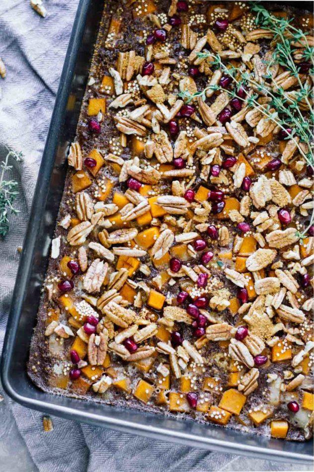 Maple Butternut Squash Quinoa Breakfast Bake