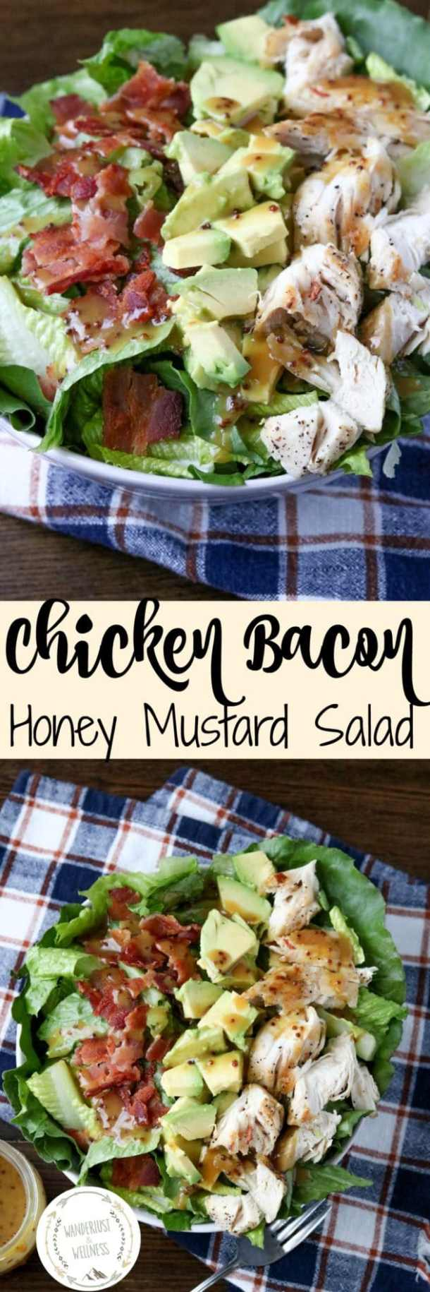 Chicken Bacon Honey Mustard Salad