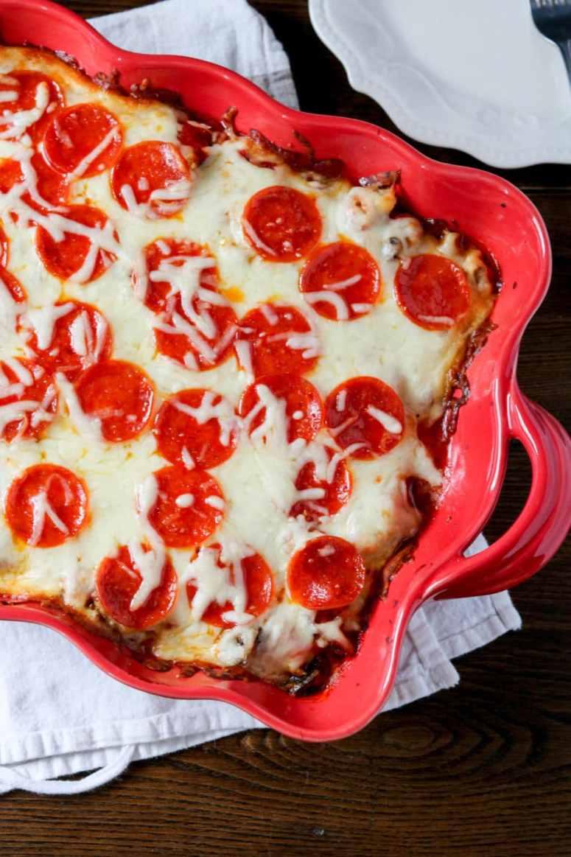 spaghetti squash pizza bake