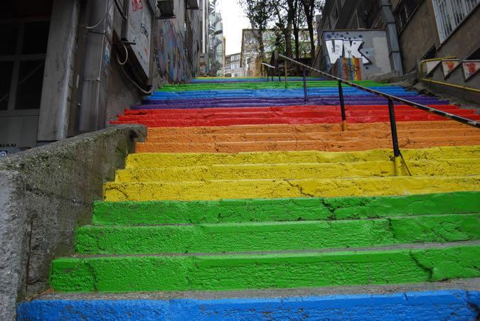 Rainbow Steps, Istanbul, Turkey
