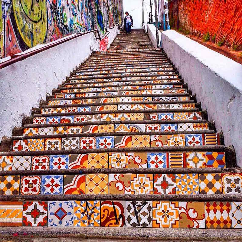 Mosaic Steps in Valparaiso, Chile