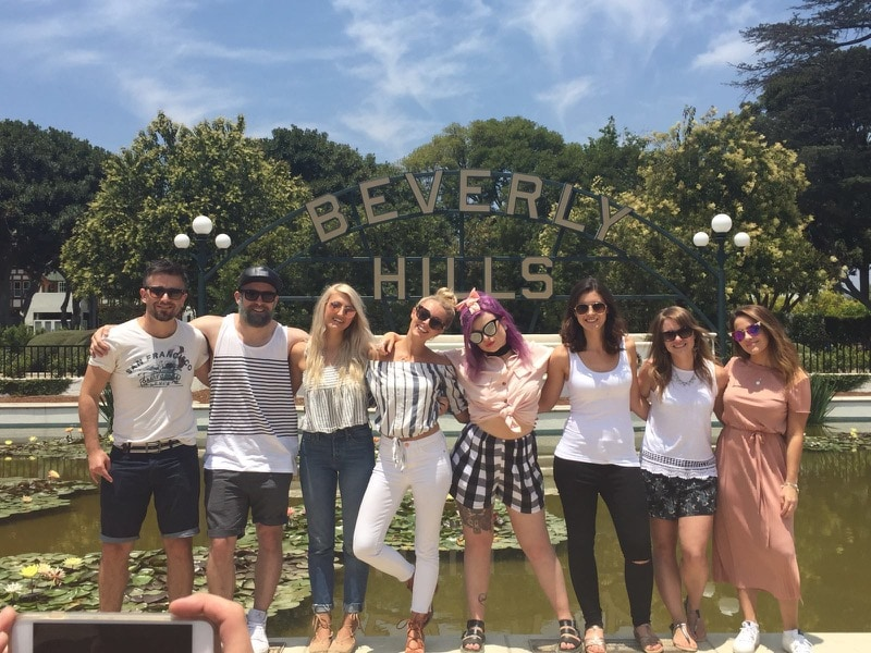 iTrekHere group in Beverly Hills