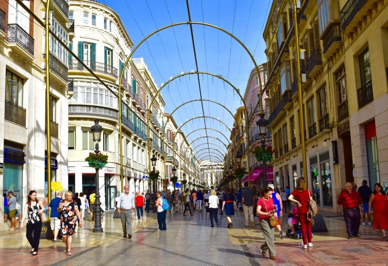 Larios street, Malaga, Spain