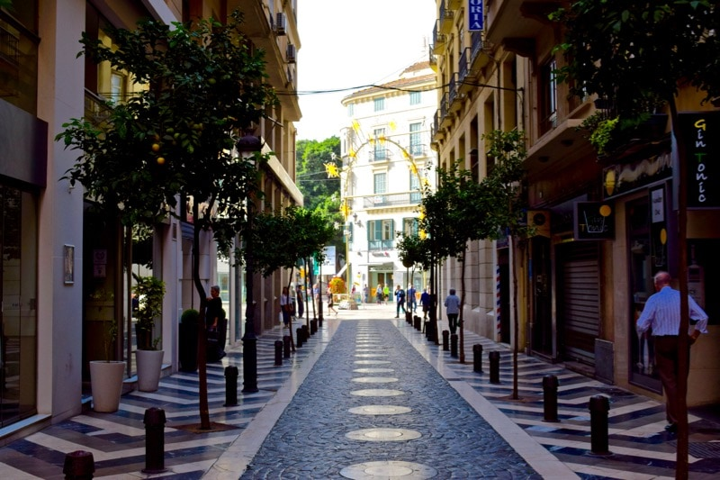 Wandering the streets of Malaga, Spain