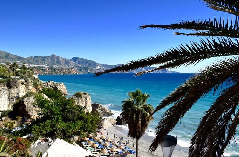 Perfect seaside views in Nerja, Spain