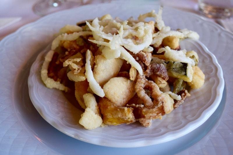 Frito misto at La Barca Restaurant, Nerja, Spain