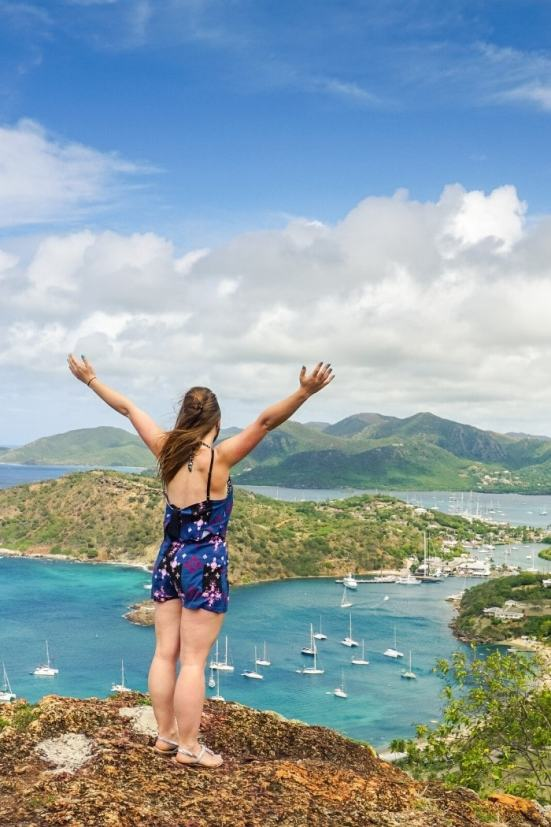Looking out over the beautiful island of Antigua, Caribbean