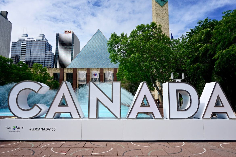 Centre of Edmonton, Canada