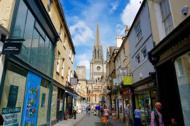 Cute streets in Bath city centre