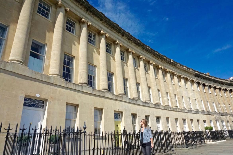 Exploring the Royal Crescent, Bath