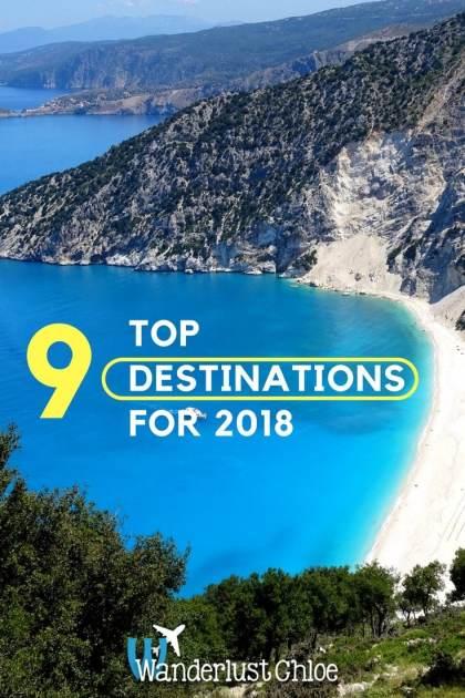 9 Top Destinations for 2018