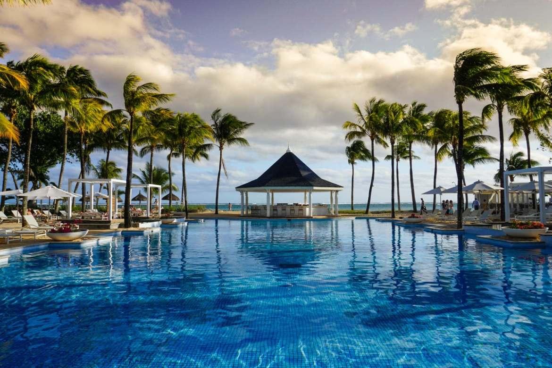 Pool views at Heritage Le Telfair Mauritius
