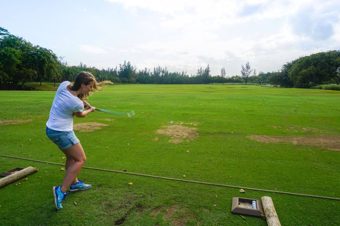 Golf induction at Heritage Le Telfair, Mauritius