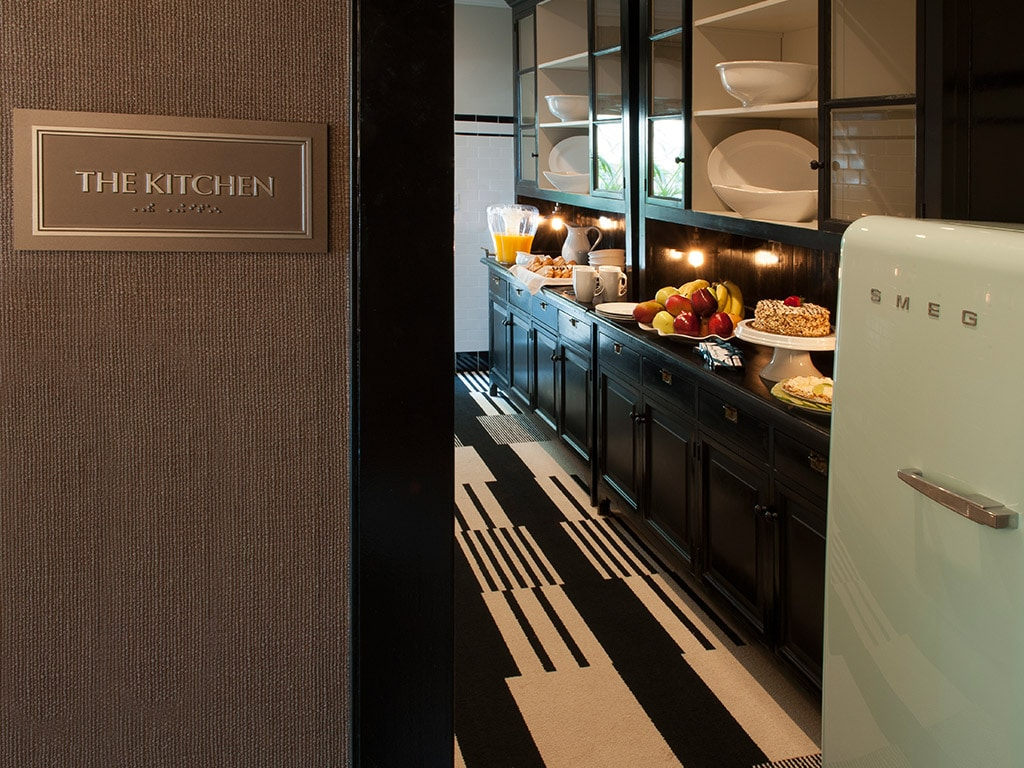Kitchen area at The Shepley, Miami
