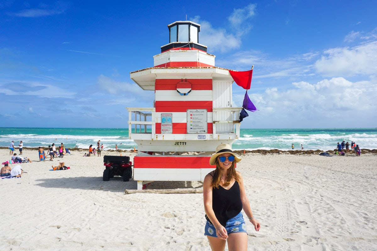 The lighthouse at South Pointe - one of Miami Beach's incredible lifeguard huts