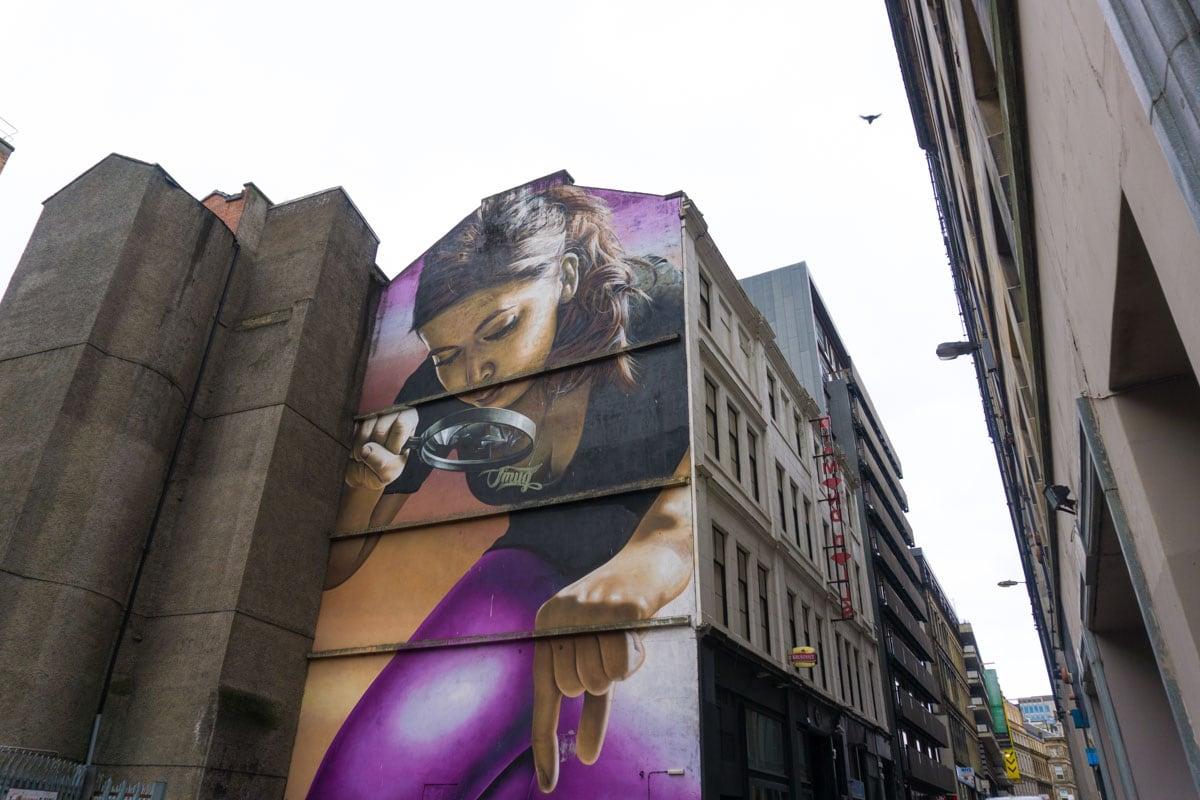 Honey I Shrunk The Kids mural in Glasgow