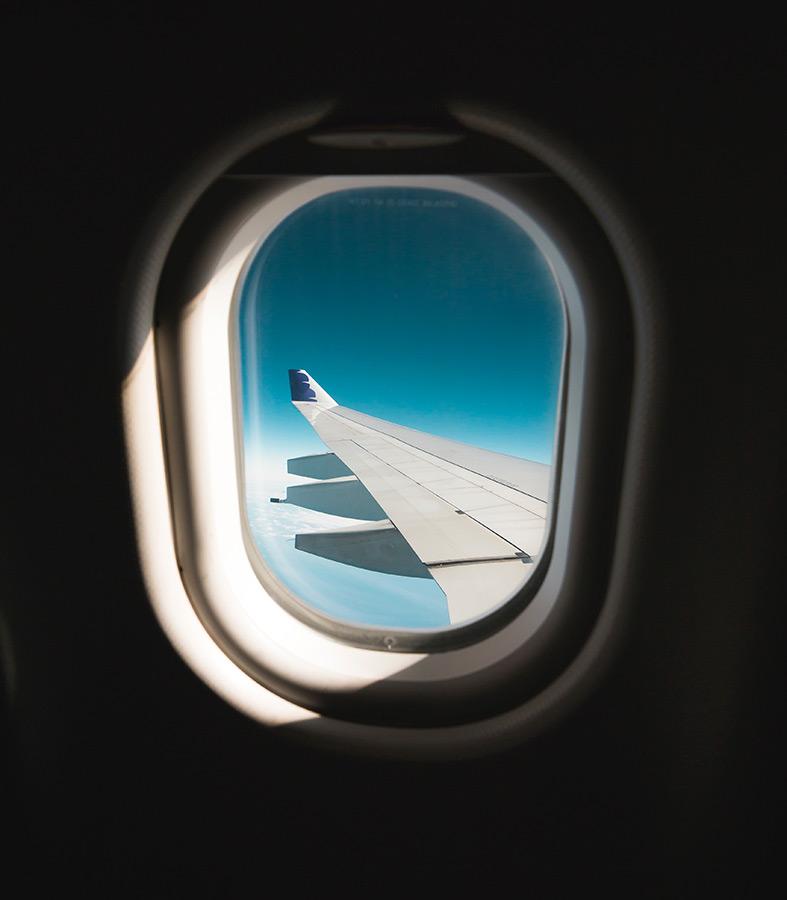 finestrino in aereo