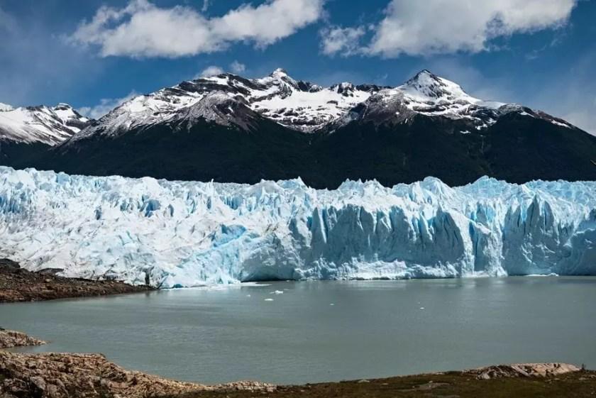 View of Perito Moreno glacier in Los Glaciares national park in Patagonia.