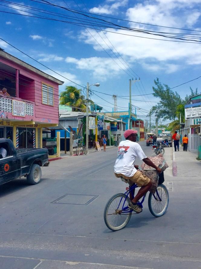Man Riding Bike in San Pedro