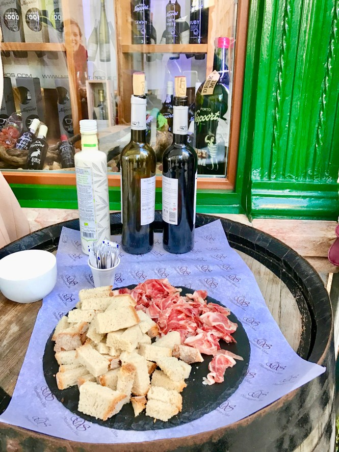 bread wine and meat in lisbon