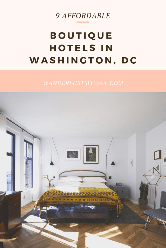 9 affordable boutique hotels in Washington, DC