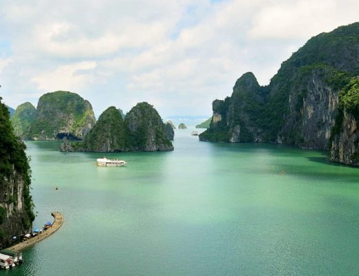 View from Halong Bay Surprise Cave