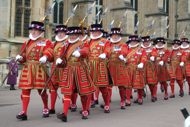 Beefeaters (or Yeoman Wardens) from the Tower of London