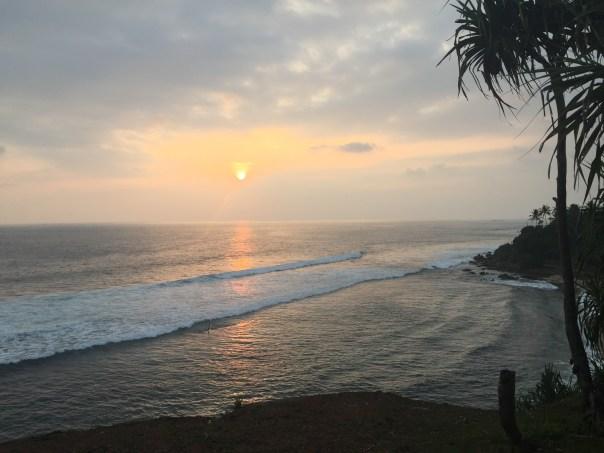The sun sets in Weligama, Sri Lanka