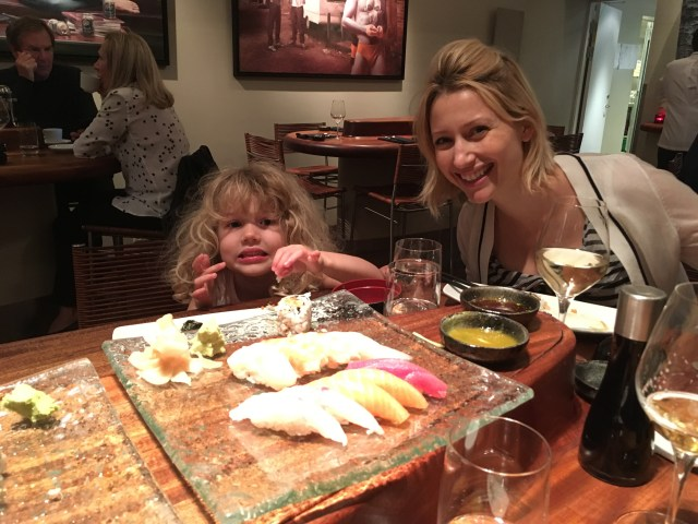 Wander Mum and Mrs T enjoy sushi at 'Alex Sushi'