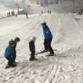 Skiing lesson at the Snow Centre, Hemel Hempstead