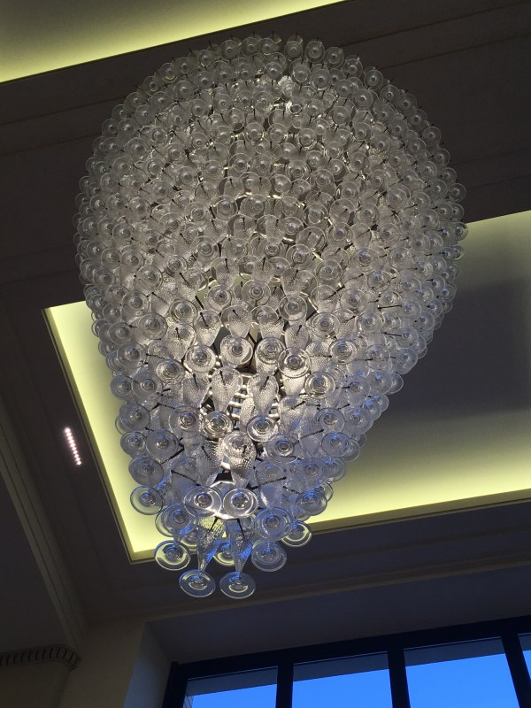 Chandelier in Moet and Chandon, Epernay