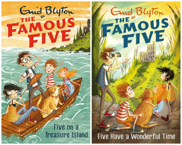 New Famous Five book cover illustrations
