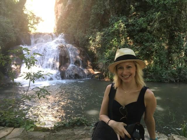 Wander Mum at Piedra monastery gardens