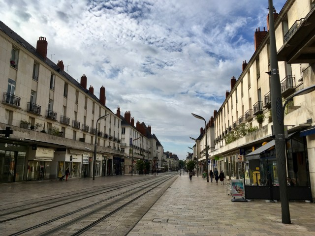 Wide shopping street in Tours