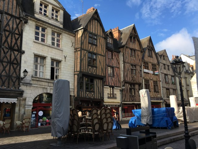 half-timbered housing in Tours, France