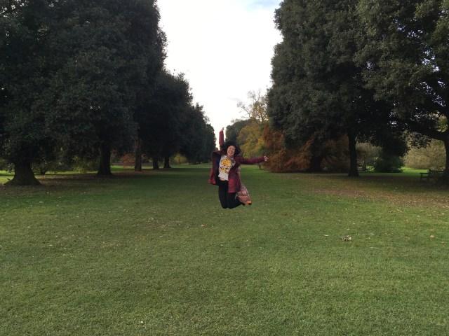 Kew Gardens jumping shots
